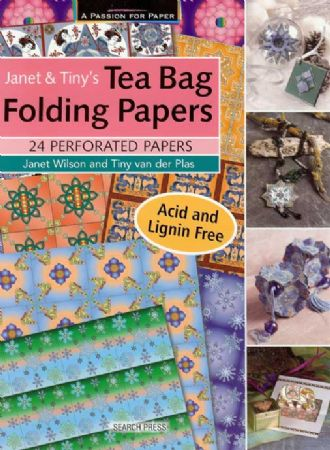 Janet & Tiny's Tea Bag Folding Papers - 24 Perforated Craft Papers